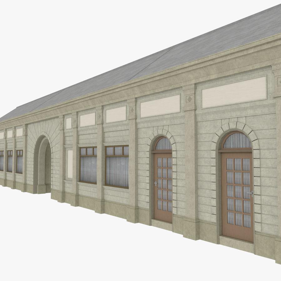 Europejski budynek trzy teksturowany royalty-free 3d model - Preview no. 5