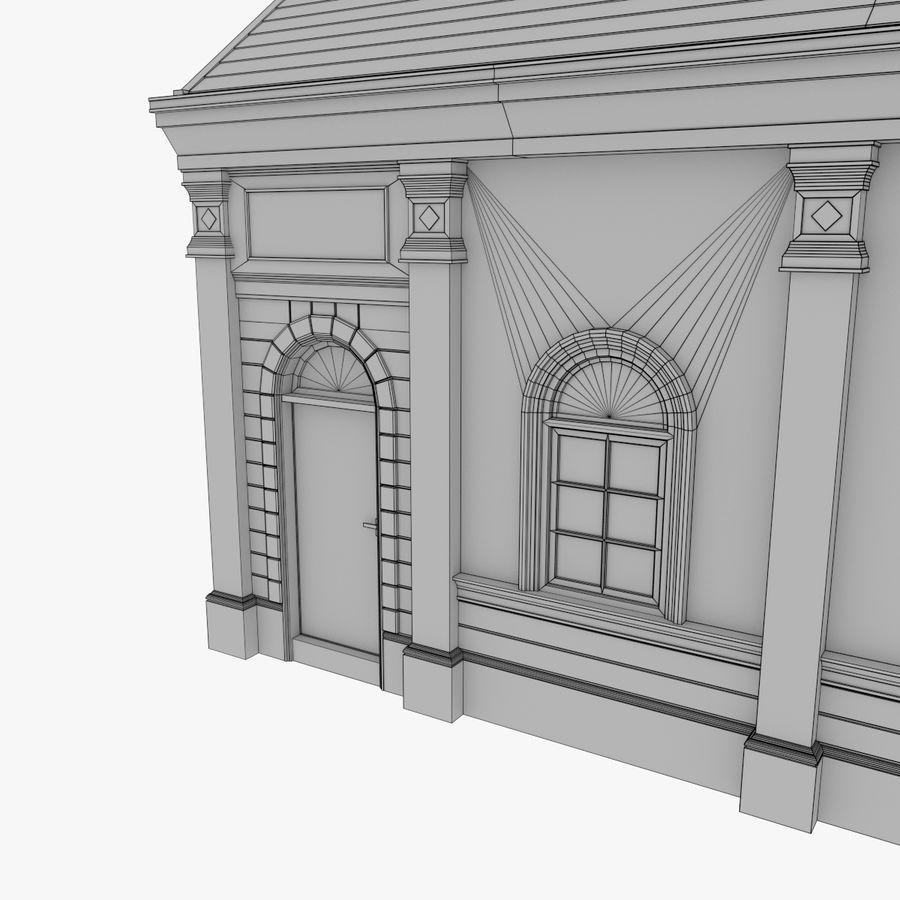Europejski budynek trzy teksturowany royalty-free 3d model - Preview no. 17