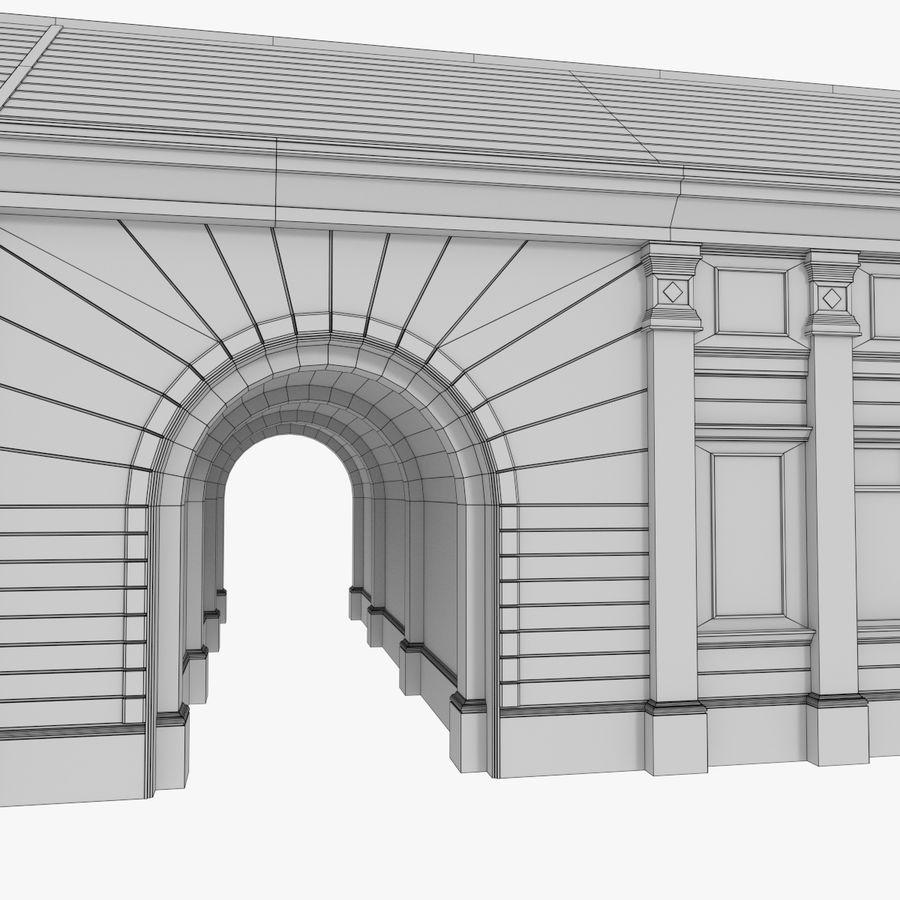 Europejski budynek trzy teksturowany royalty-free 3d model - Preview no. 15