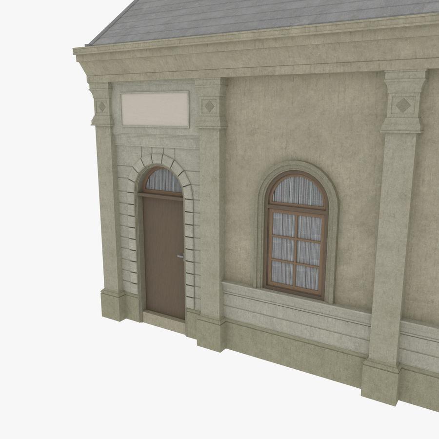 Europejski budynek trzy teksturowany royalty-free 3d model - Preview no. 8