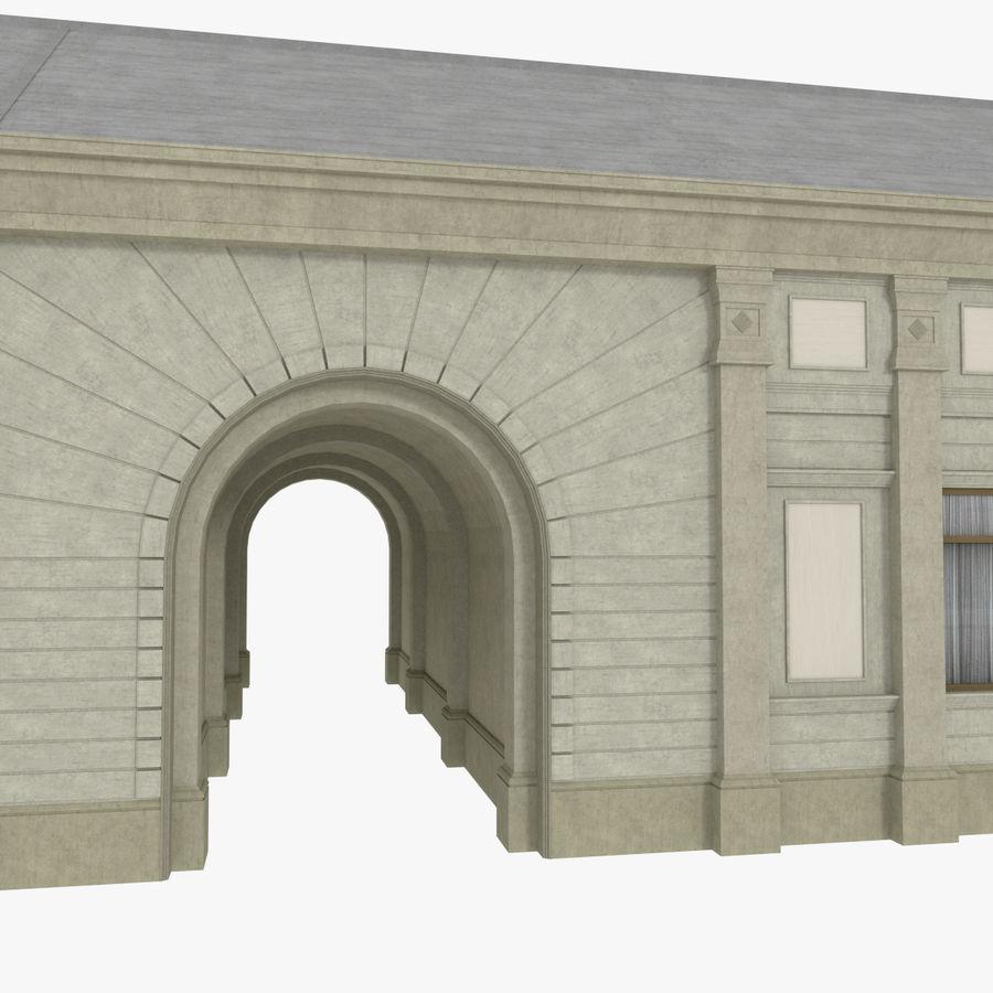 Europejski budynek trzy teksturowany royalty-free 3d model - Preview no. 6