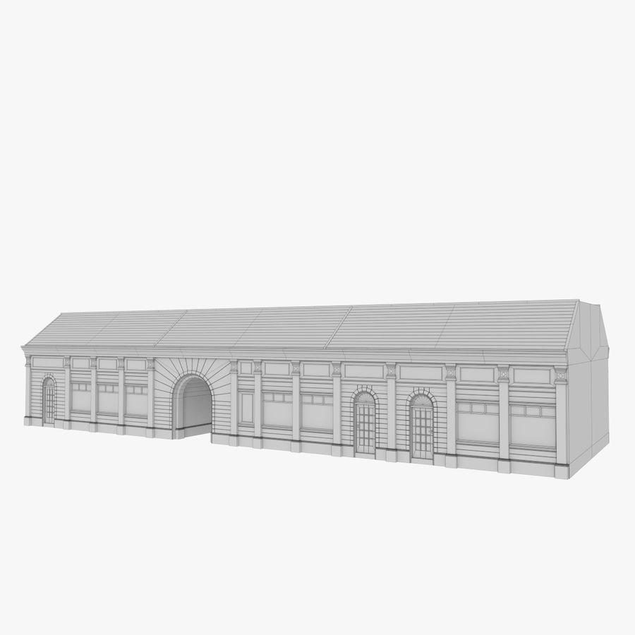 Europejski budynek trzy teksturowany royalty-free 3d model - Preview no. 10