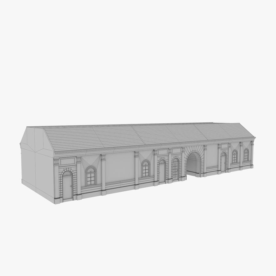 Europejski budynek trzy teksturowany royalty-free 3d model - Preview no. 13