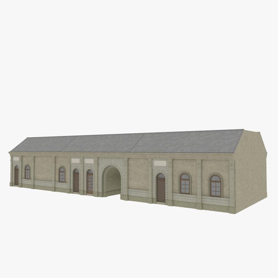 Europejski budynek trzy teksturowany royalty-free 3d model - Preview no. 3