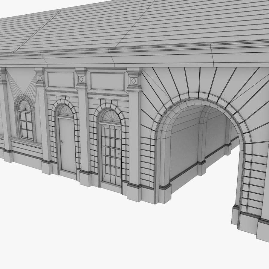 Europejski budynek trzy teksturowany royalty-free 3d model - Preview no. 16