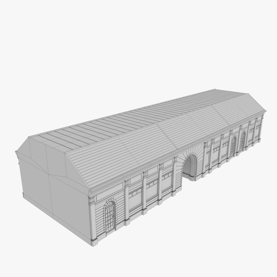 Europejski budynek trzy teksturowany royalty-free 3d model - Preview no. 11