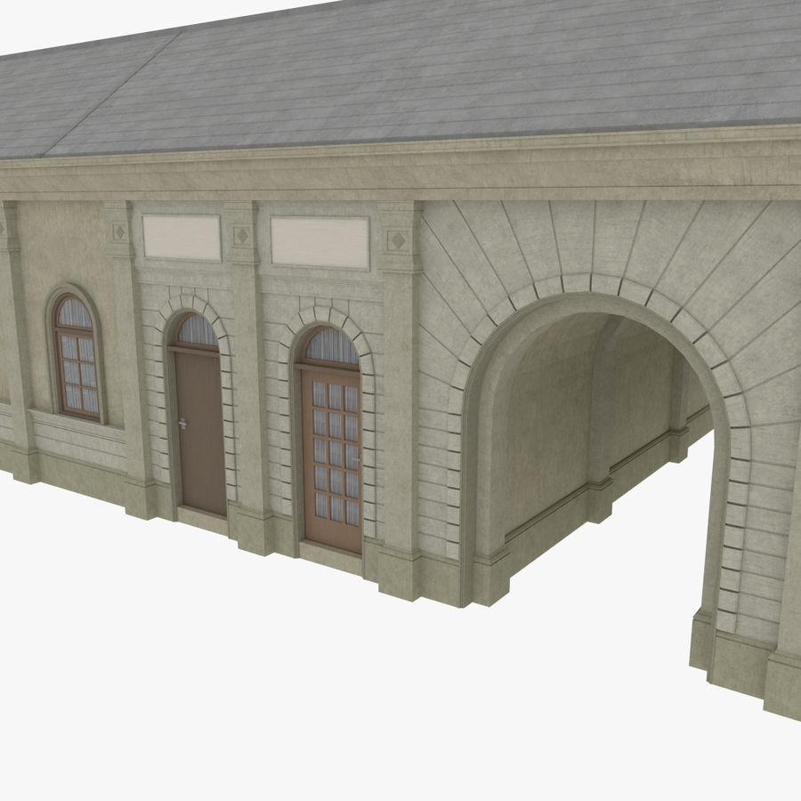 Europejski budynek trzy teksturowany royalty-free 3d model - Preview no. 7