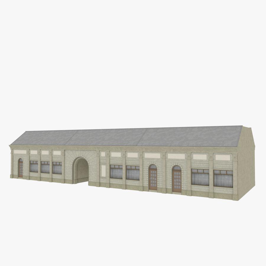 Europejski budynek trzy teksturowany royalty-free 3d model - Preview no. 1