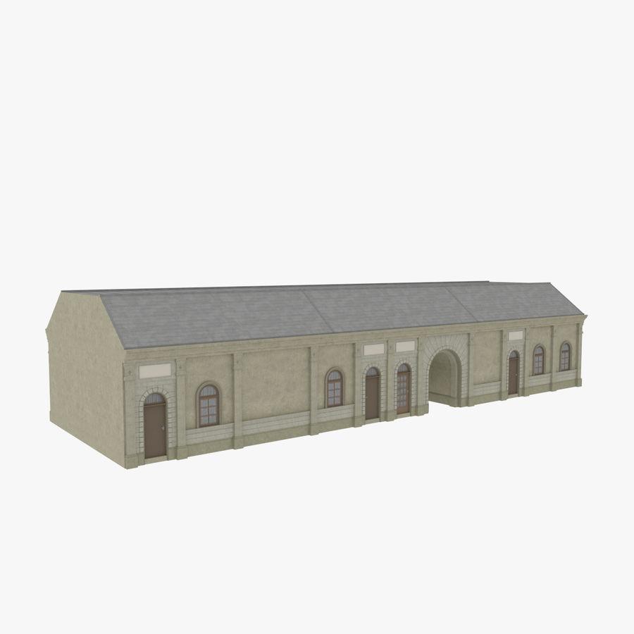 Europejski budynek trzy teksturowany royalty-free 3d model - Preview no. 4