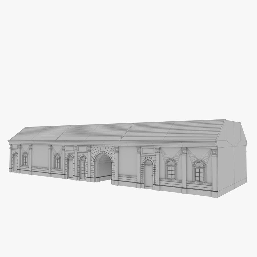 Europejski budynek trzy teksturowany royalty-free 3d model - Preview no. 12
