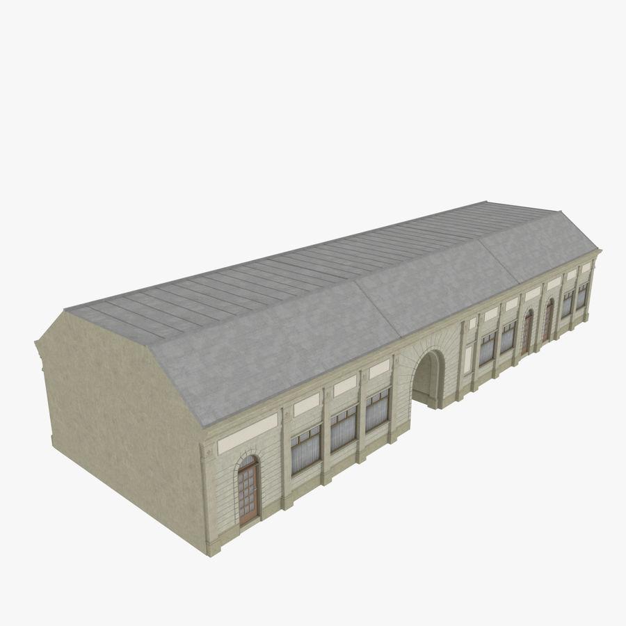 Europejski budynek trzy teksturowany royalty-free 3d model - Preview no. 2