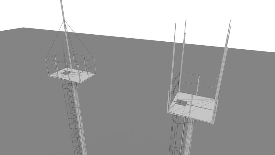Radio tower royalty-free 3d model - Preview no. 3