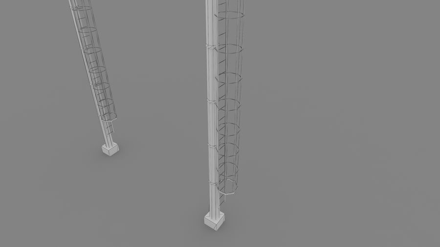 Radio tower royalty-free 3d model - Preview no. 5