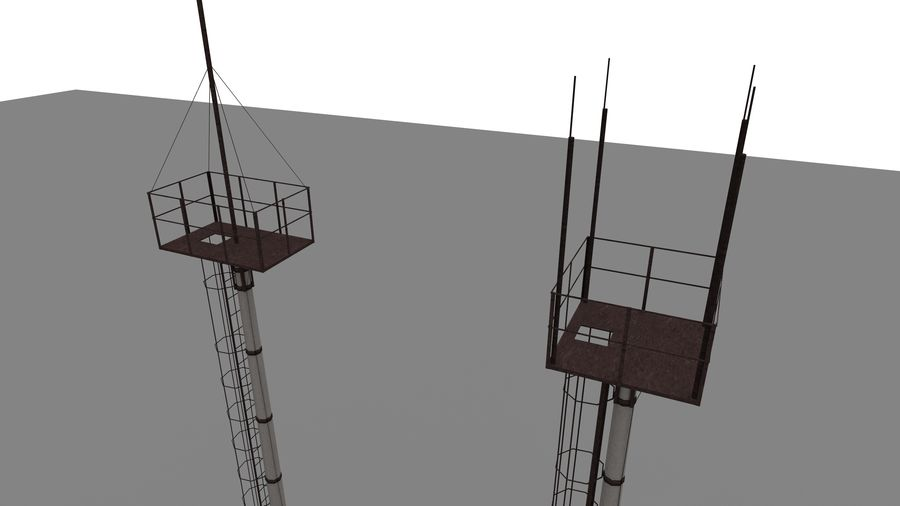 Radio tower royalty-free 3d model - Preview no. 2