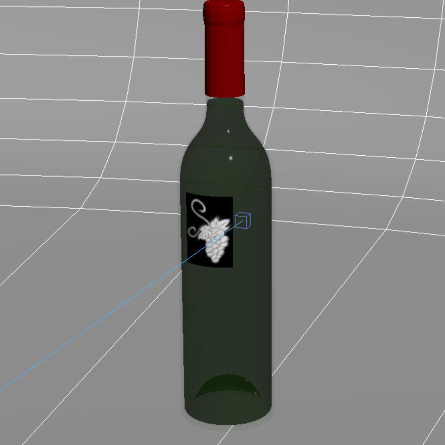 酒瓶 royalty-free 3d model - Preview no. 3