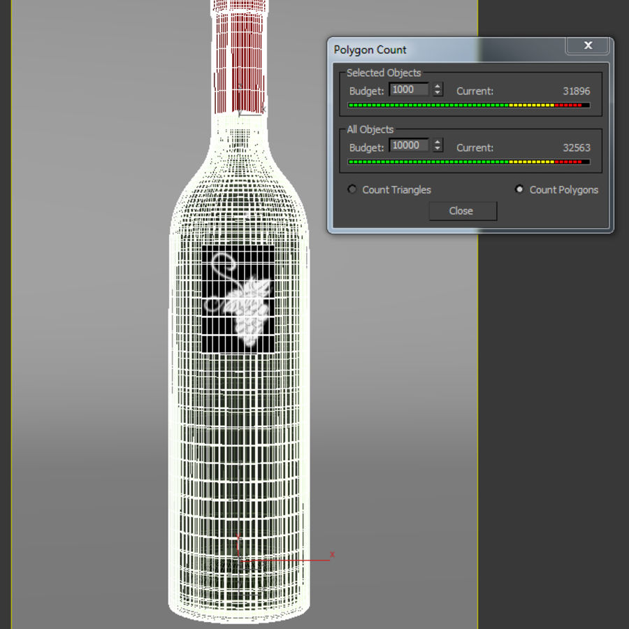 酒瓶 royalty-free 3d model - Preview no. 5