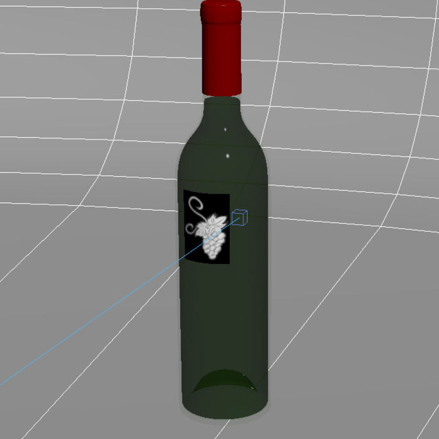 wine bottle royalty-free 3d model - Preview no. 3