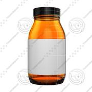 Botella de suplemento de vitaminas y medicamentos modelo 3d