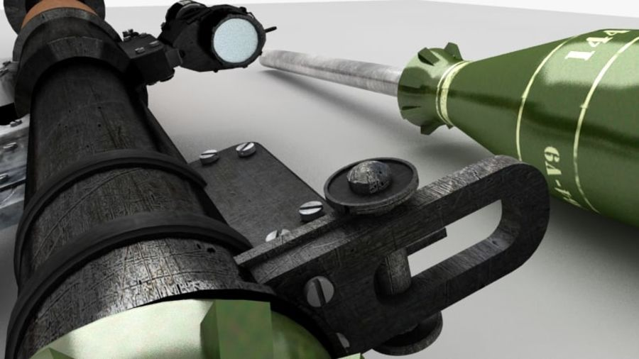 RPG-7 royalty-free 3d model - Preview no. 7