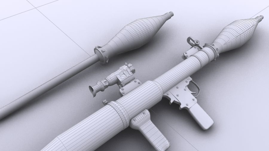 RPG-7 royalty-free 3d model - Preview no. 9