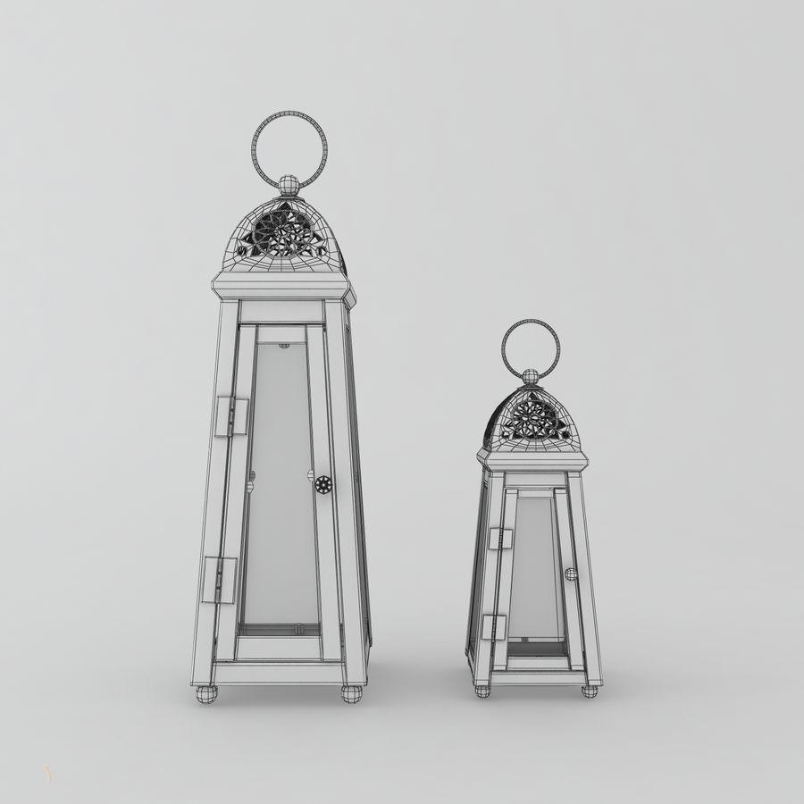 キャンドルランタン royalty-free 3d model - Preview no. 5