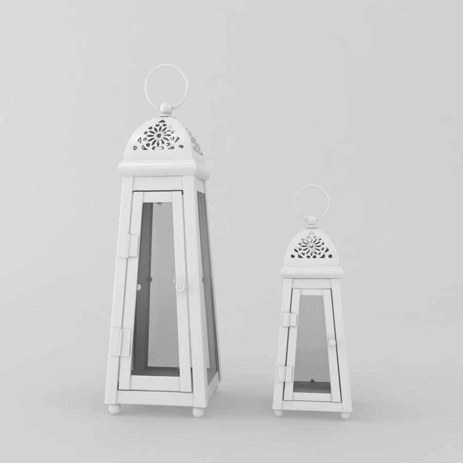 キャンドルランタン royalty-free 3d model - Preview no. 4