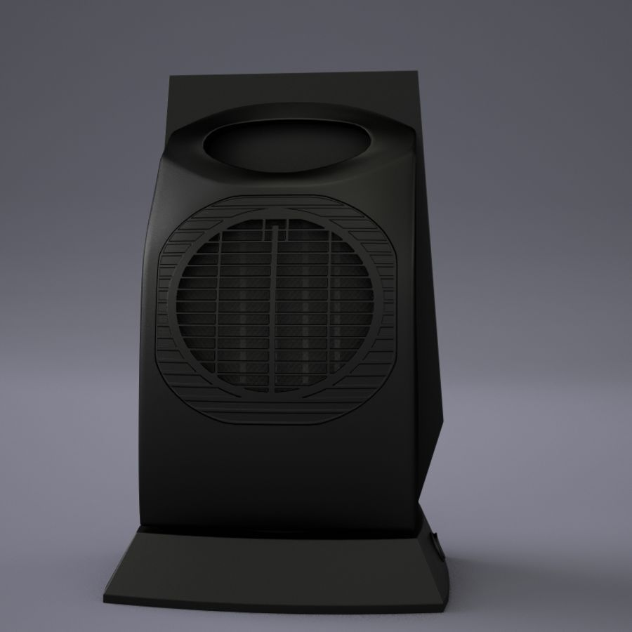 обогреватель Bork O502 royalty-free 3d model - Preview no. 3