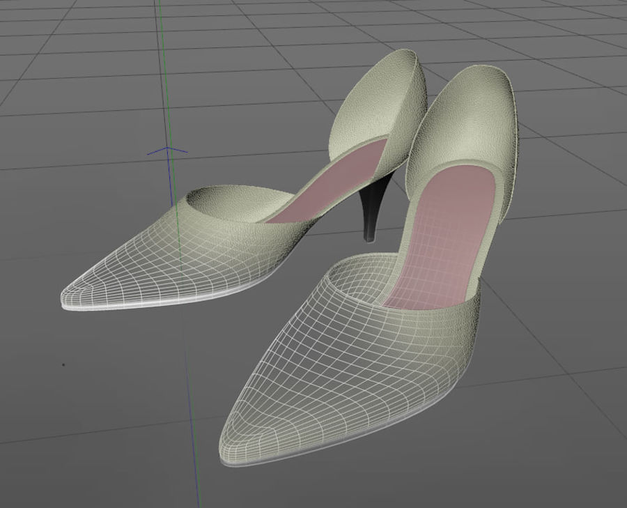 Shoes_Female royalty-free 3d model - Preview no. 6
