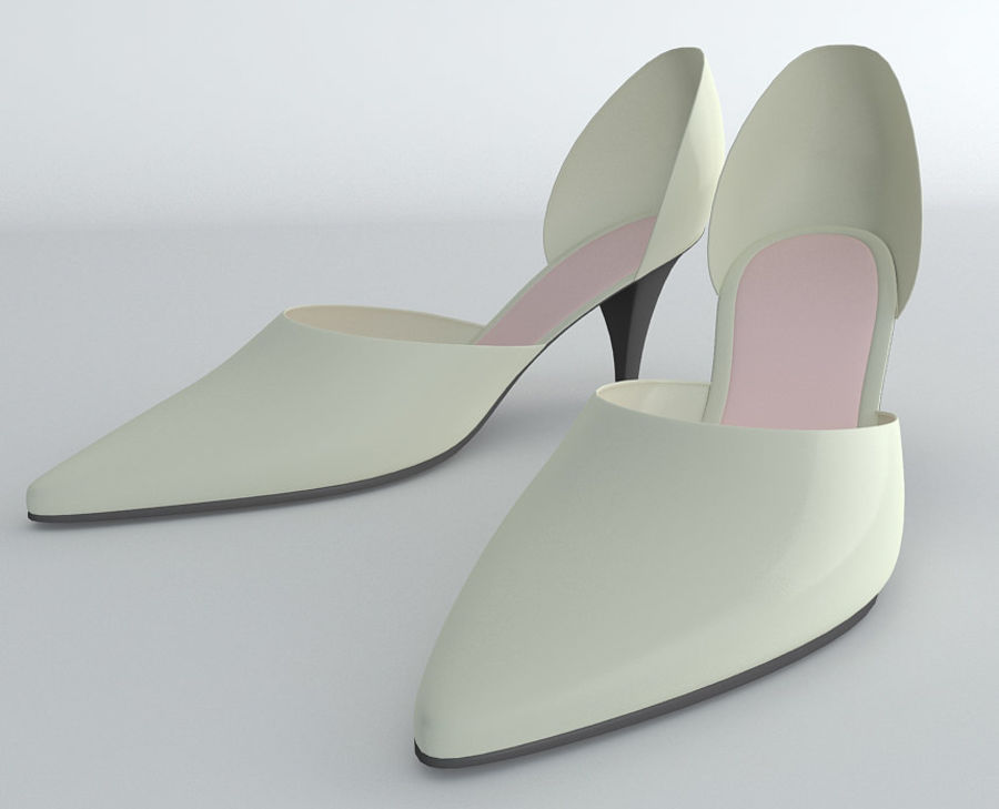Shoes_Female royalty-free 3d model - Preview no. 3