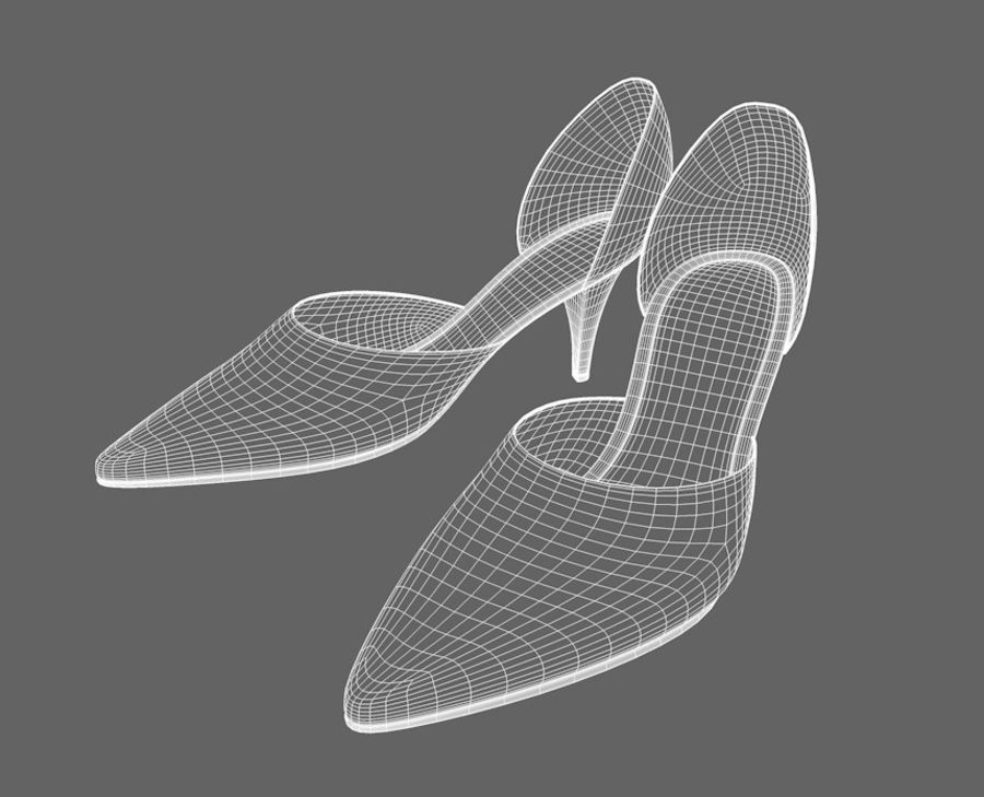 Shoes_Female royalty-free 3d model - Preview no. 5