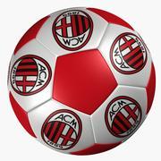 サッカーボールACミラノ 3d model