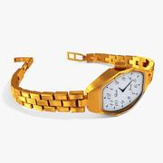 Relógio de ouro 3d model