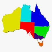 澳大利亚地图 3d model