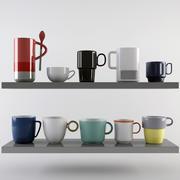 Mug Set 3d model
