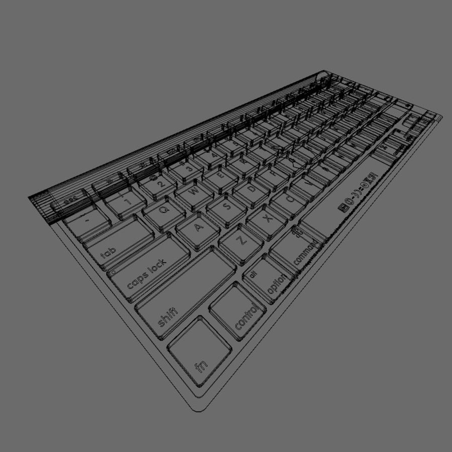 Apple Bluetooth Keyboard royalty-free 3d model - Preview no. 6