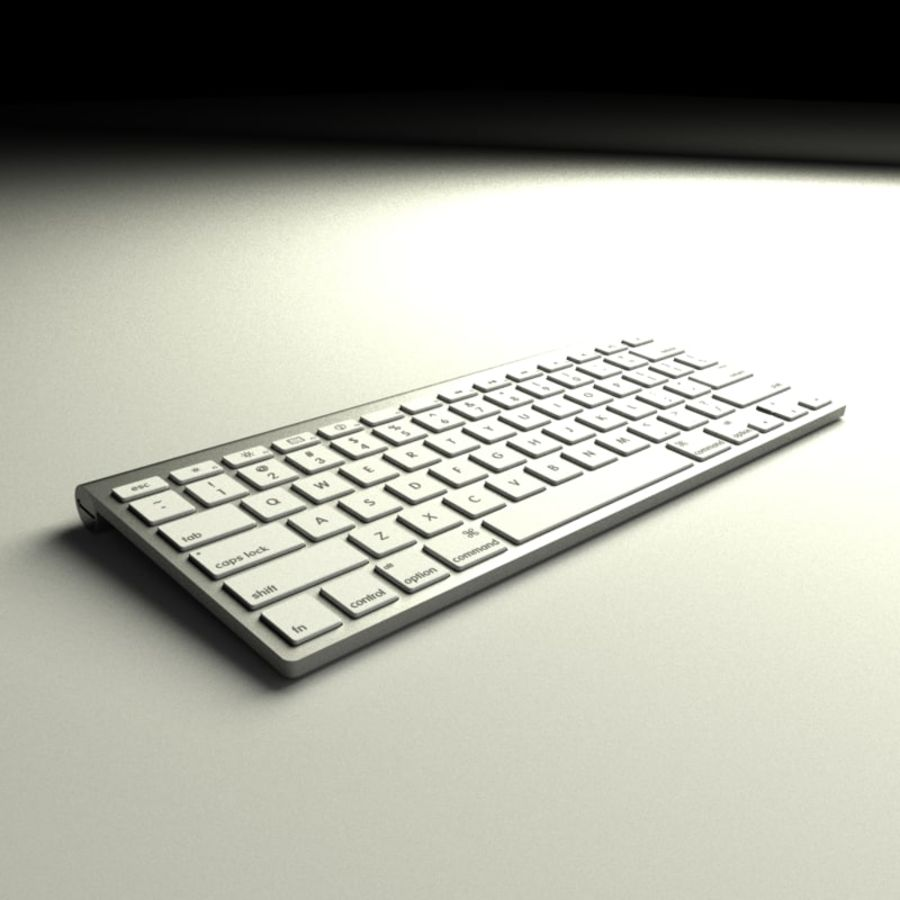 Apple Bluetooth Keyboard royalty-free 3d model - Preview no. 2
