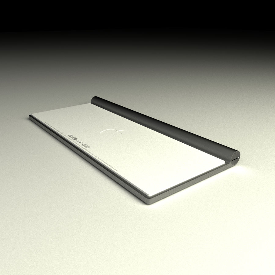 Apple Bluetooth Keyboard royalty-free 3d model - Preview no. 3