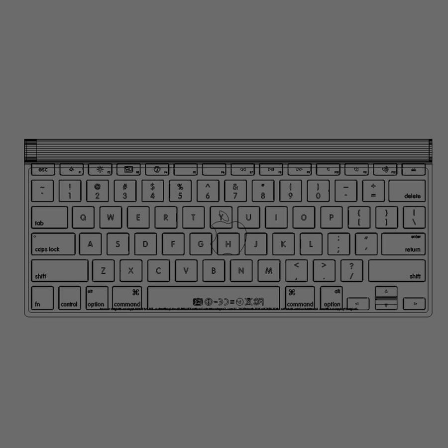 Apple Bluetooth Keyboard royalty-free 3d model - Preview no. 4