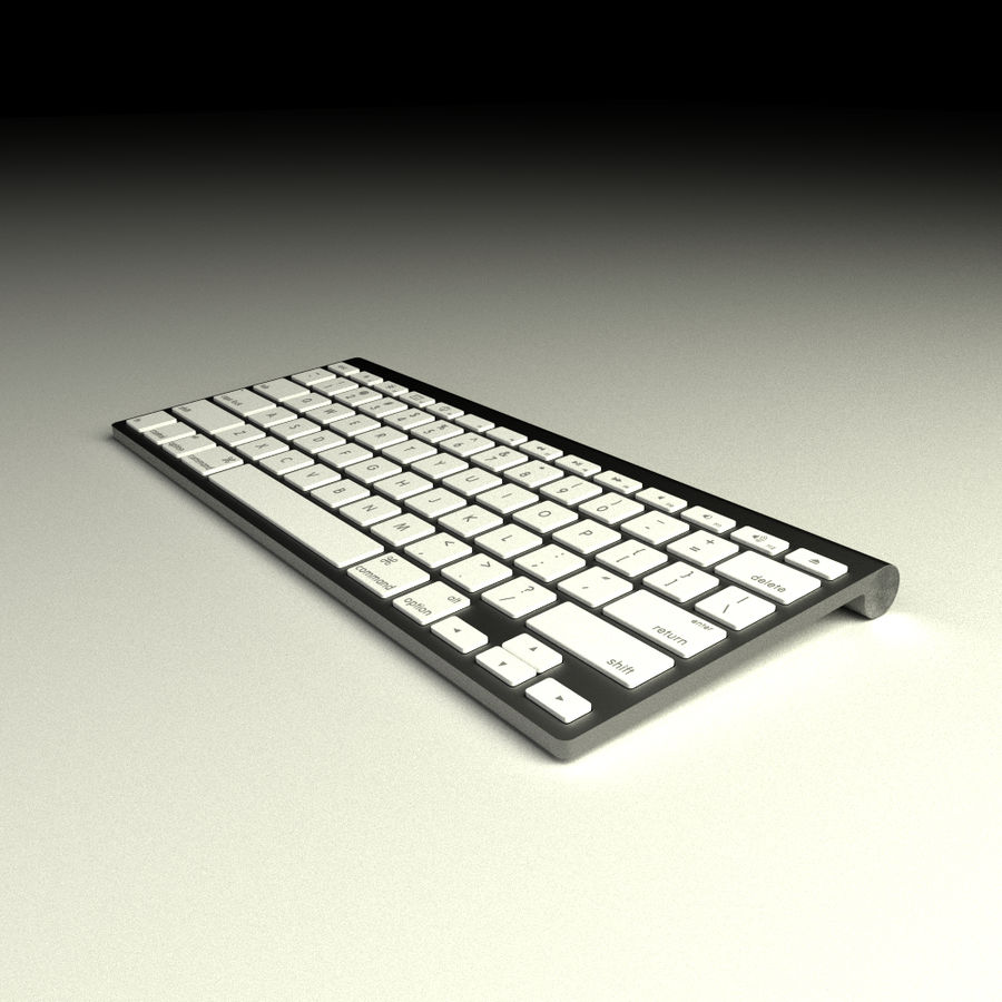 Apple Bluetooth Keyboard royalty-free 3d model - Preview no. 1