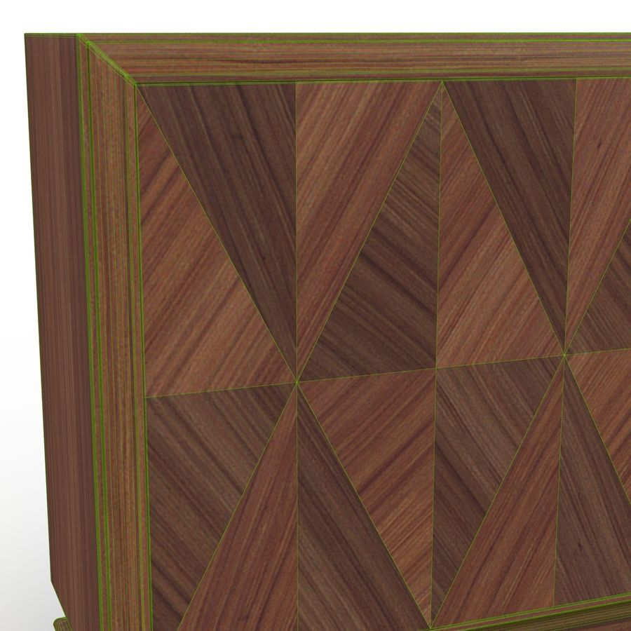 Mueble de madera royalty-free modelo 3d - Preview no. 12