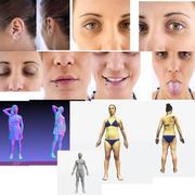 Female Reference+3D 3d model
