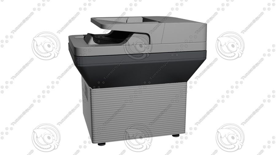 Office electronics set royalty-free 3d model - Preview no. 29
