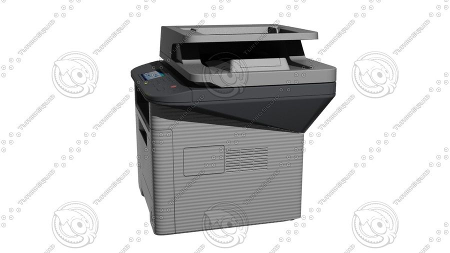 Office electronics set royalty-free 3d model - Preview no. 28