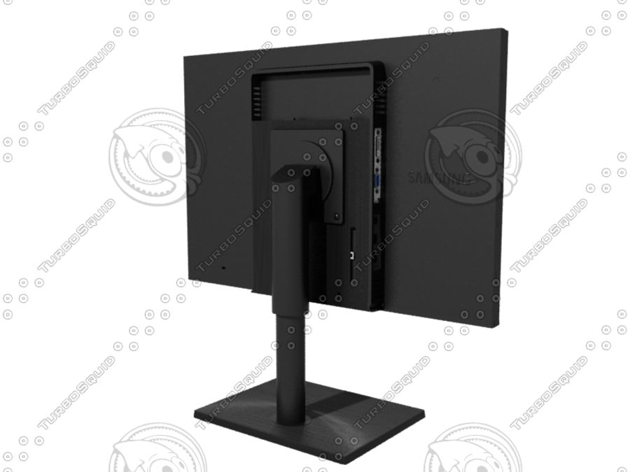 Office electronics set royalty-free 3d model - Preview no. 26