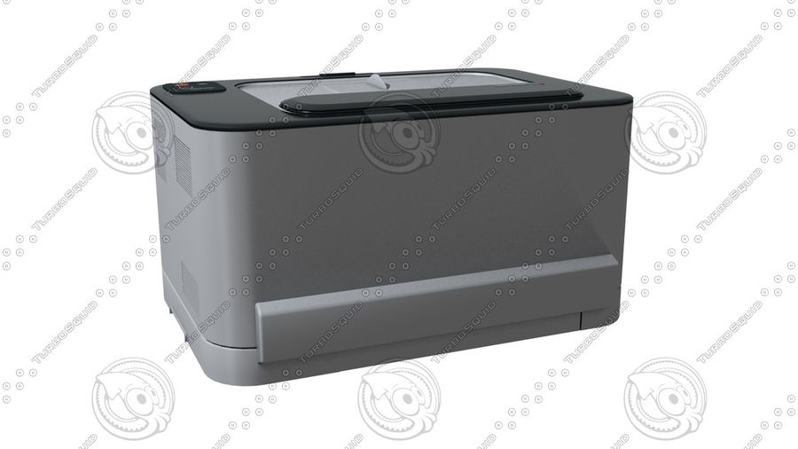Office electronics set royalty-free 3d model - Preview no. 15