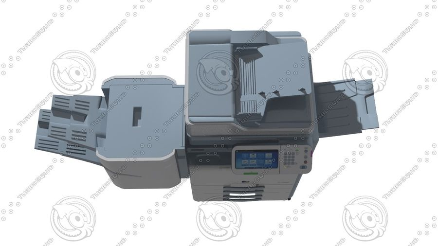 Office electronics set royalty-free 3d model - Preview no. 12