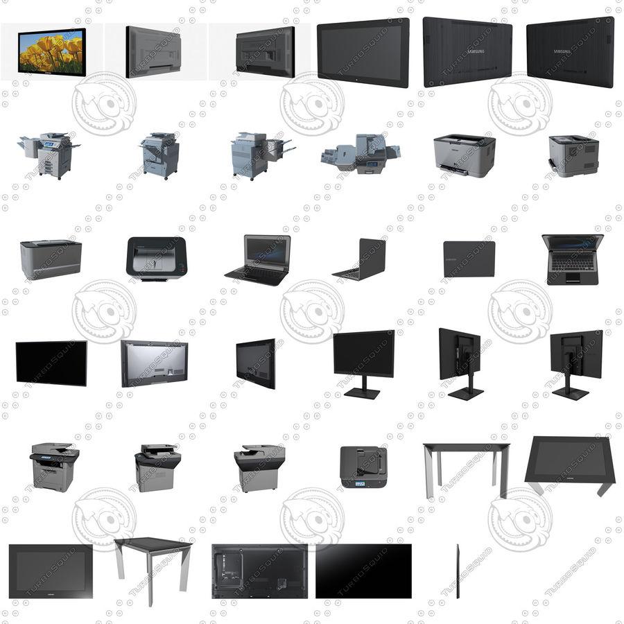 사무용 전자 제품 세트 royalty-free 3d model - Preview no. 2