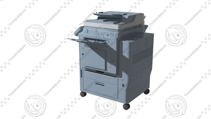 Office electronics set royalty-free 3d model - Preview no. 10