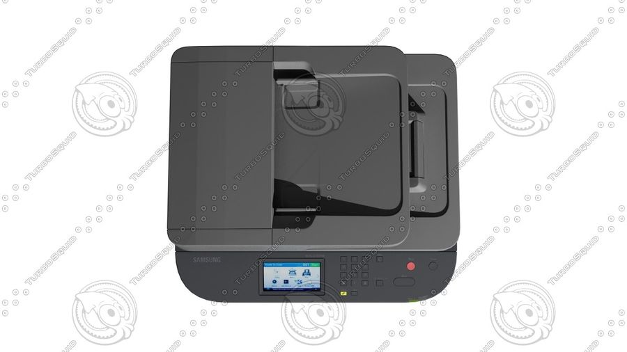Office electronics set royalty-free 3d model - Preview no. 30