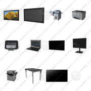 Office electronics set 3d model